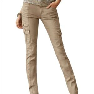💕 WHBM tan military style skinny jeans💕